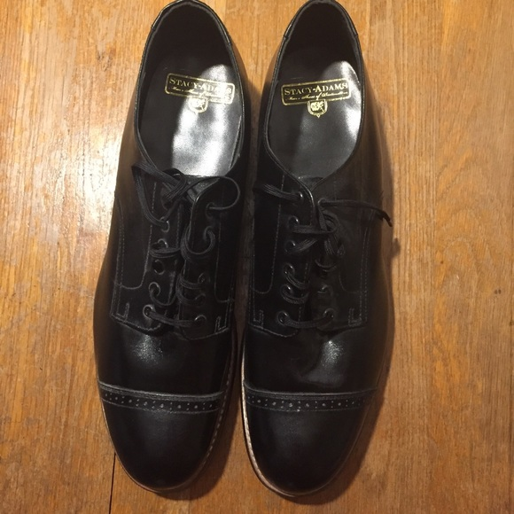 Stacy Adams Mens Black Leather Madison Slip On Business Dress Trendy Loafer Shoe